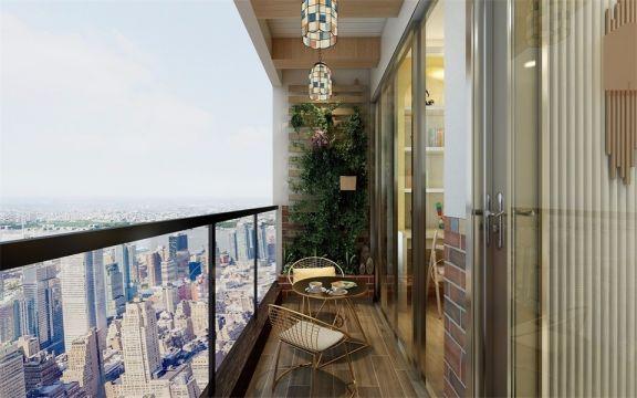 阳台设计茶歇区,闲暇的午后,品茶、看书、听音乐,或是简单的欣赏风景,都是非常美好的时光。