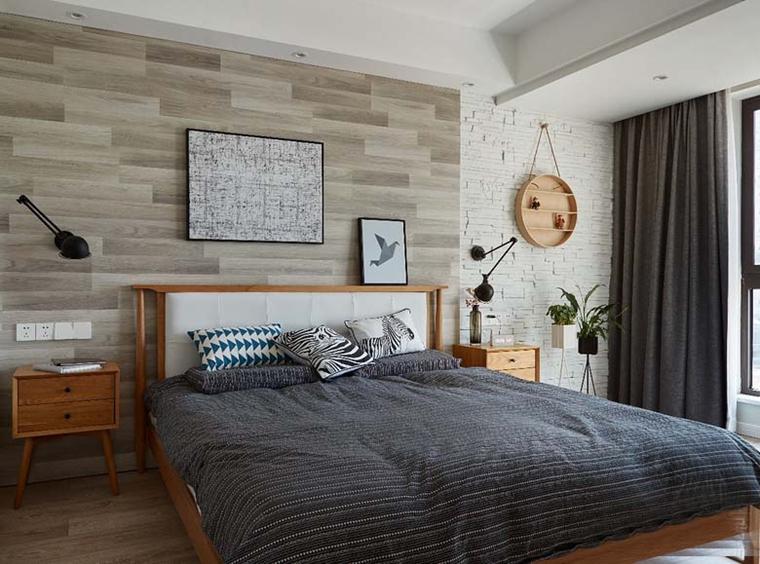 简洁的线条将休息功能换给卧室。整个房间显得宁静。