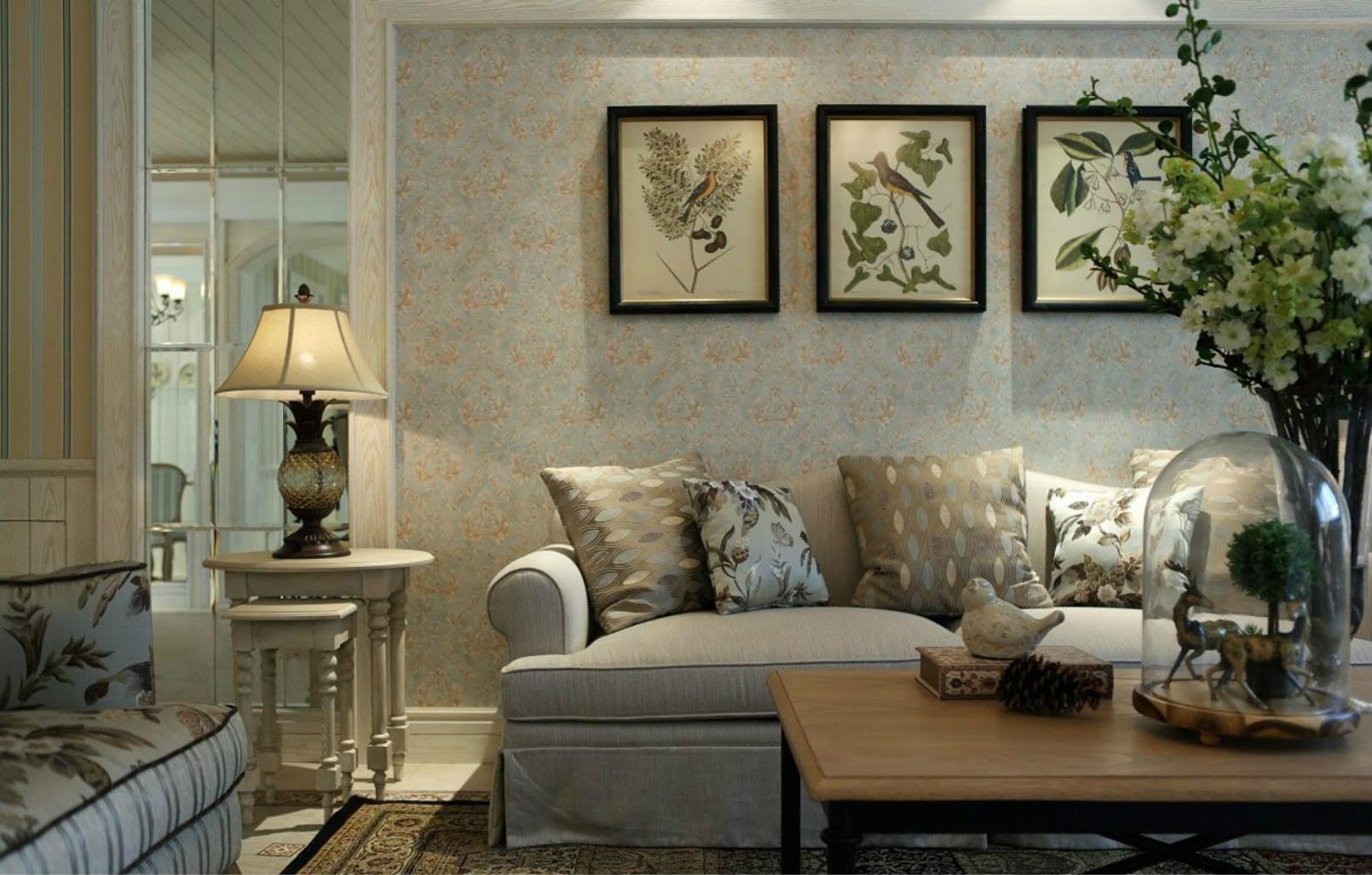 吊灯设计感强烈,与沙发背景墙的挂画装饰一起让这空间更有个性,更加现代。