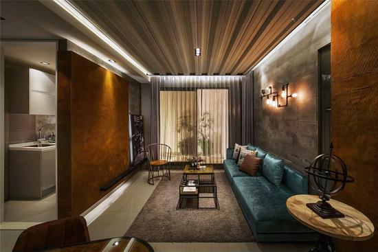 以工业风为题,借由替代质材、家具软件的搭配,精彩呈现个性十足的风格魅力。
