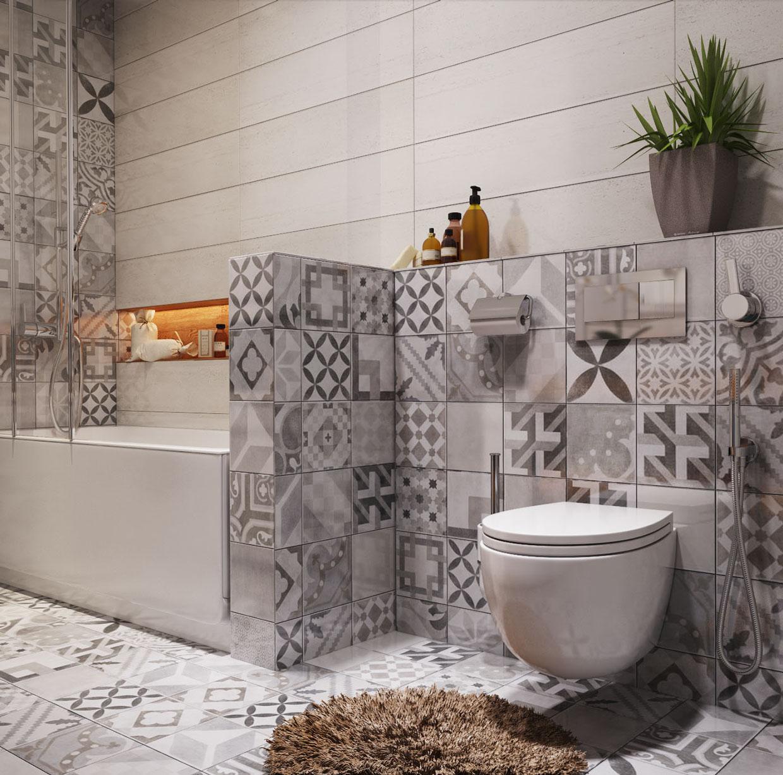 墙面上不少丰富的小花砖装饰,可见小花瓷砖从上个世纪起,就一直是高端人士的最爱