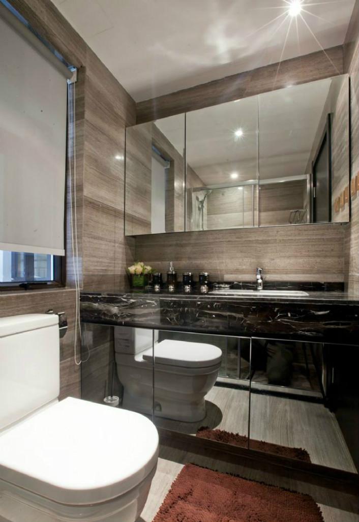 卫生间很好的做了干湿分离,同时也做了足够的收纳