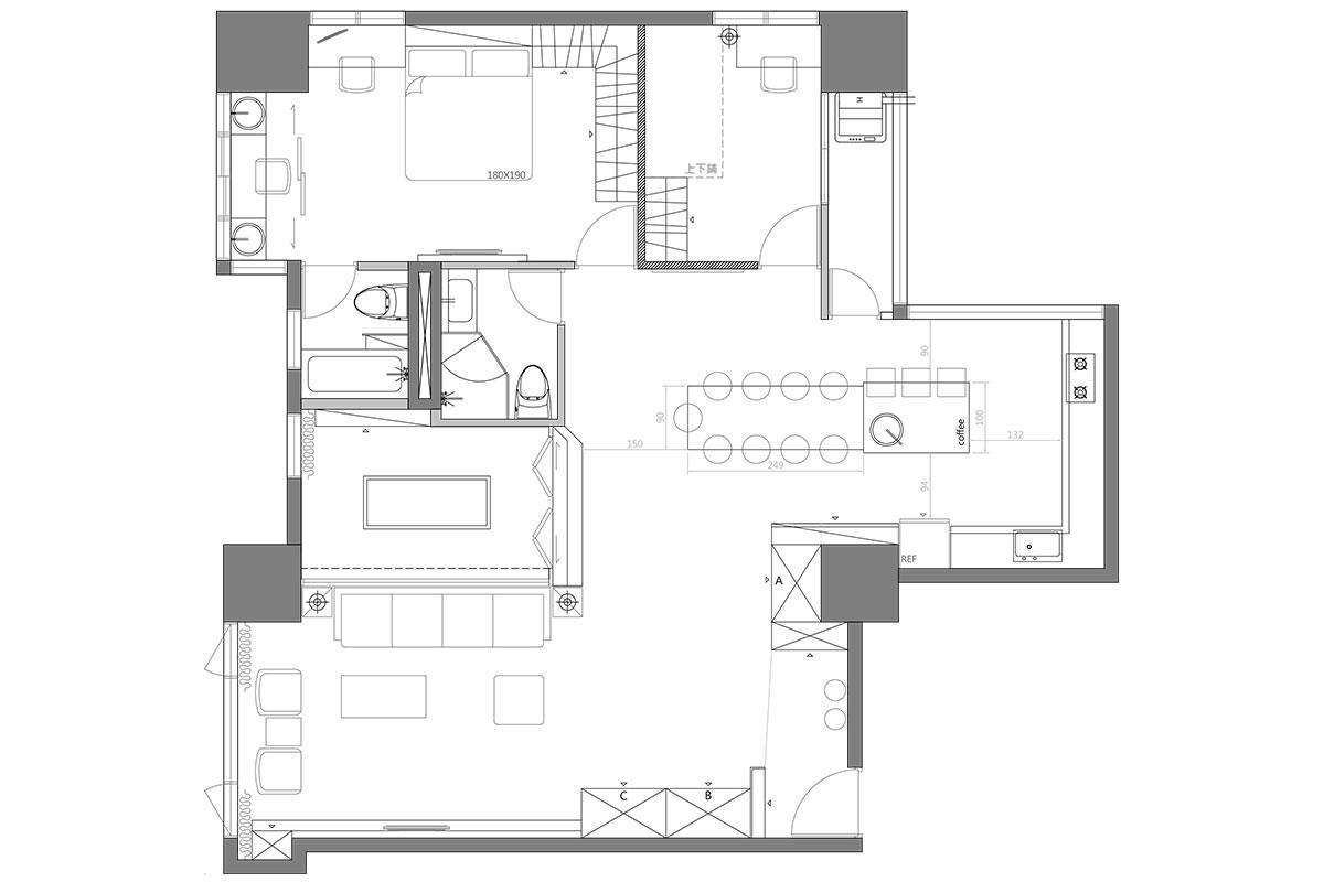 该户型紧凑实用,功能分布完善,整体采光充足,主卧带独立套间设计,生活舒适度高。