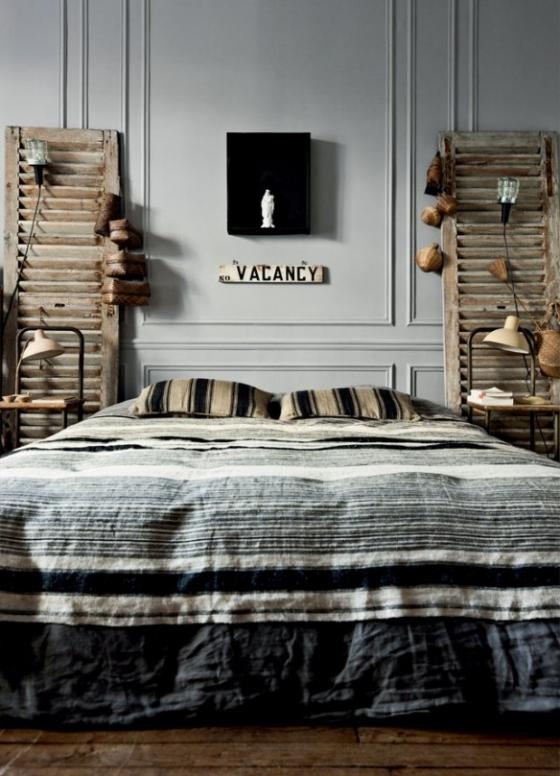 床头两扇窗,文艺其实满满,营造出独具韵味。