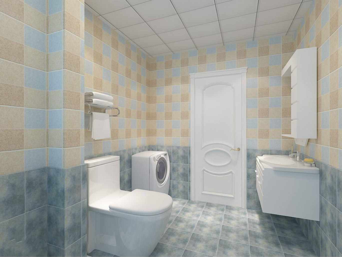 卫生间整体比较干净整洁