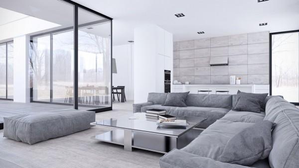 客厅没有想象中的呢么简单,沙发茶几都有摆设,主打风格和线条的简单。
