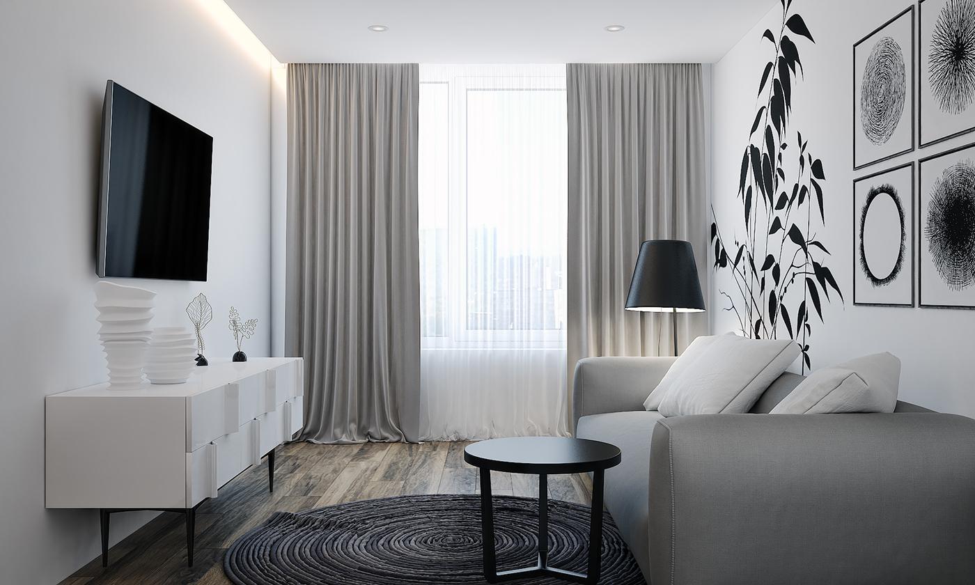 客厅简洁的配色搭配轻便舒适的家具,让整个空间看起来都更加温馨舒适