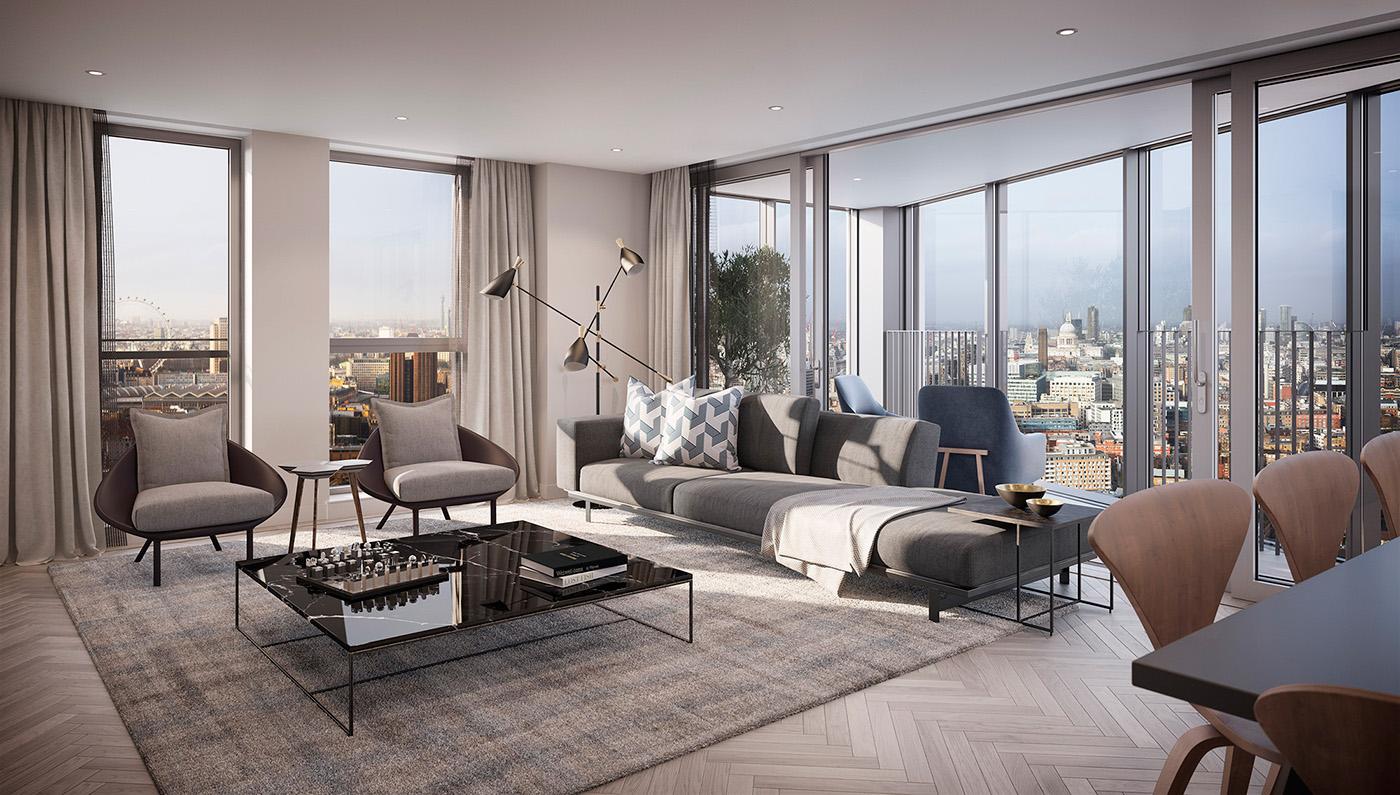 客厅灰色系沙发与地毯样式相辅相成,细腻温和,不仅提升了整体色调,还打破了北欧风格给人们固有的冷淡情结