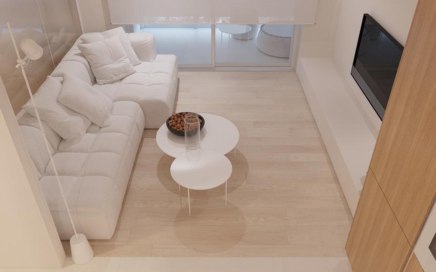 白色的沙发格外抢眼,显得空间明亮洁净。
