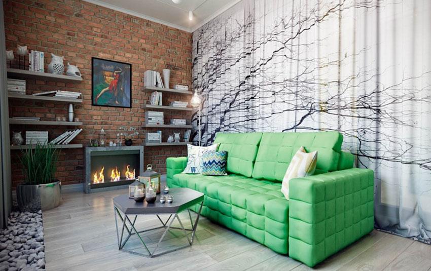客厅的墙壁处理就看得出来设计师的思路,怀旧的情绪在空间中逐渐弥漫开来