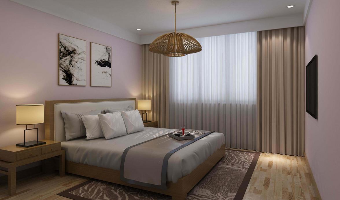 卧室温馨可人,是让业主放松一天疲惫身体的好地方