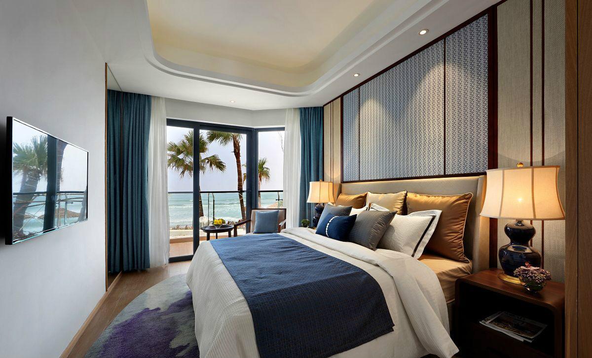 卧室简化了装饰线,都体现了业主对待生活的一种态度。