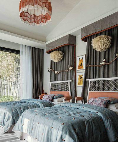 儿童房的设计更具现代气息和纯真色彩。
