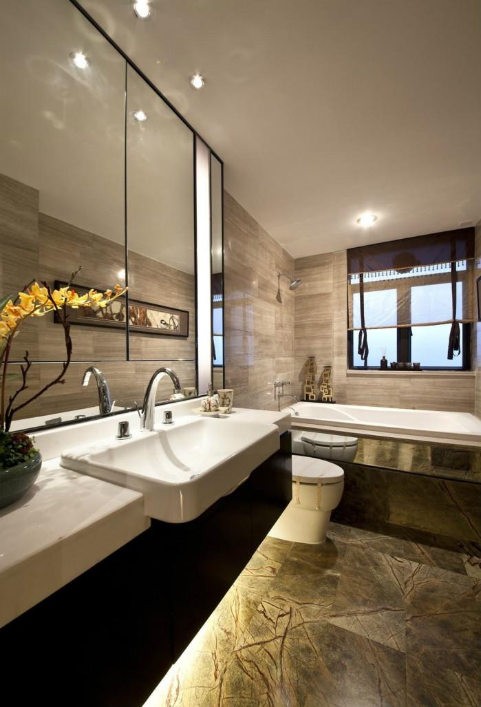 卫生间现代元素的摆件和配饰给予空间一丝新的气息