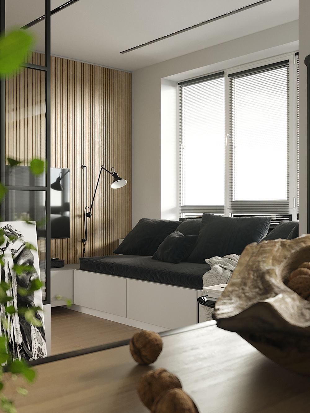 客厅紧凑,以精简的品味统领布局,用不同的视角打造出现代家居生活。