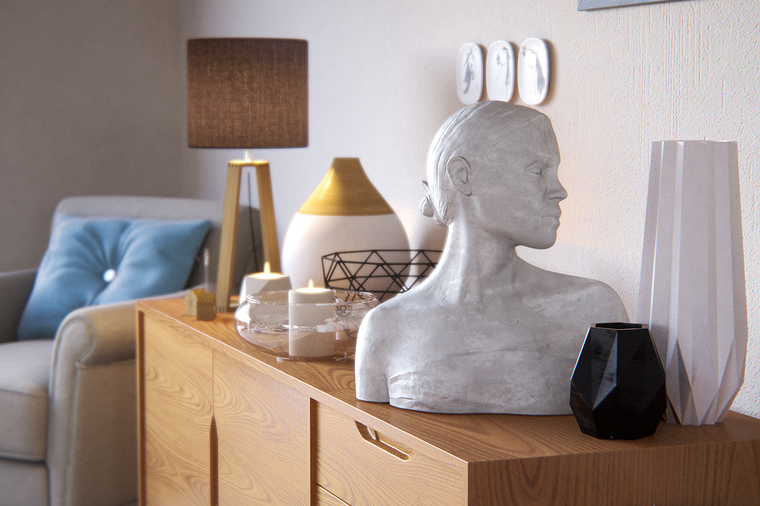不可缺少的装饰画及艺术品将整体的质感提升。