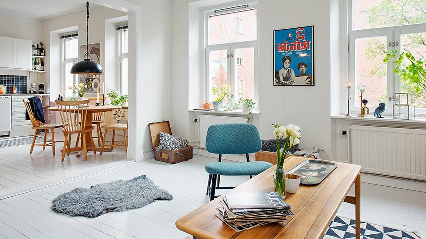 地上的地毯装扮十分有创意,空间运用十分彻底