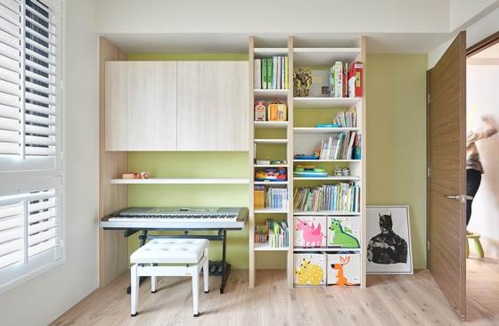 活泼鲜艳的儿童房,设计师让家中的每一个人都拥有一片属于自己的天地。