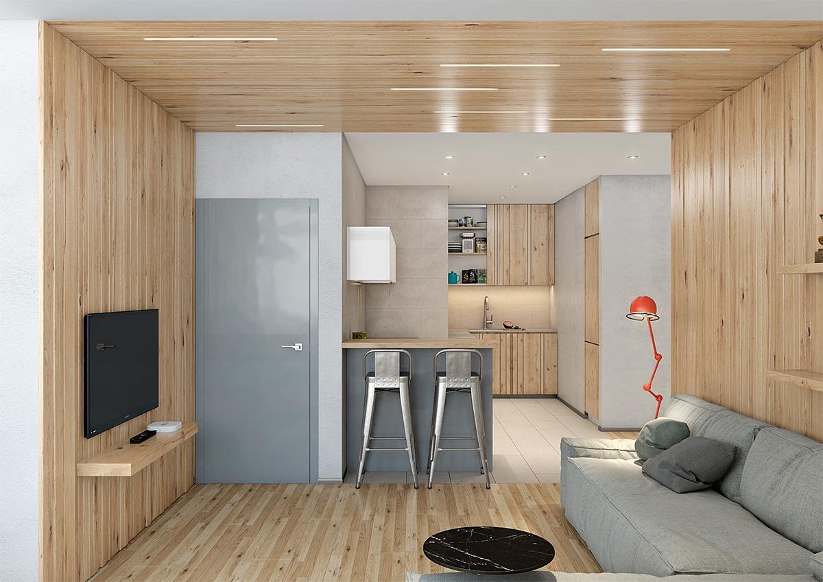 客厅以木质为主,简约大方的装修,干净整洁
