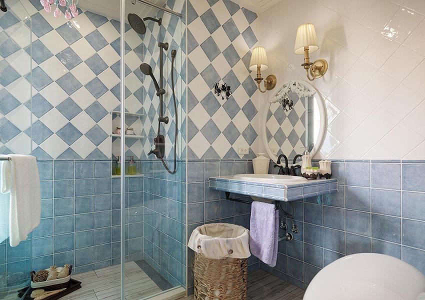 淡雅清新的洗手间的设计,优雅大气。