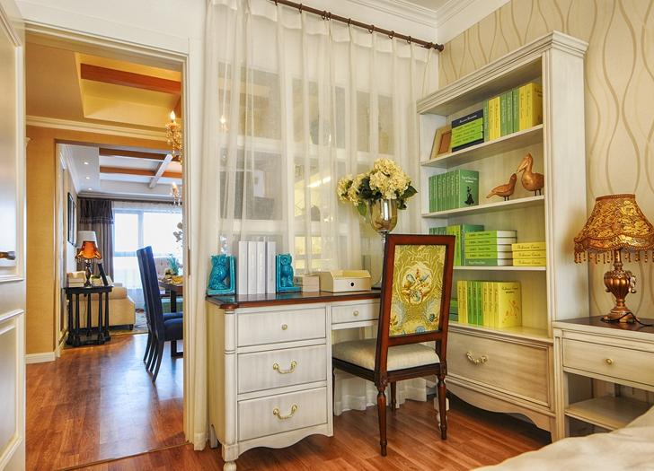 书房兼具次卧的功能,最大的提高空间利用率。