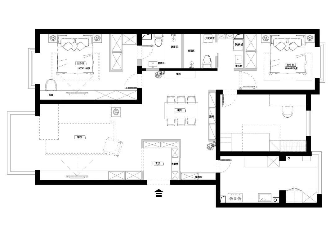 户型方正,实用性强,出房率高,几乎每个房间都有明窗设计,采光通风较好。