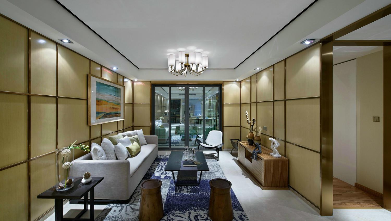 客厅入户的玄关区域和客厅相连,然后就是开放式的客厅空间,更加明亮。