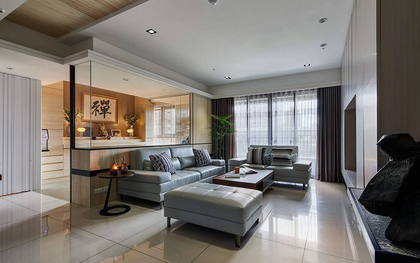 家具部分为温润本质的空间,注入不少现代设计感。