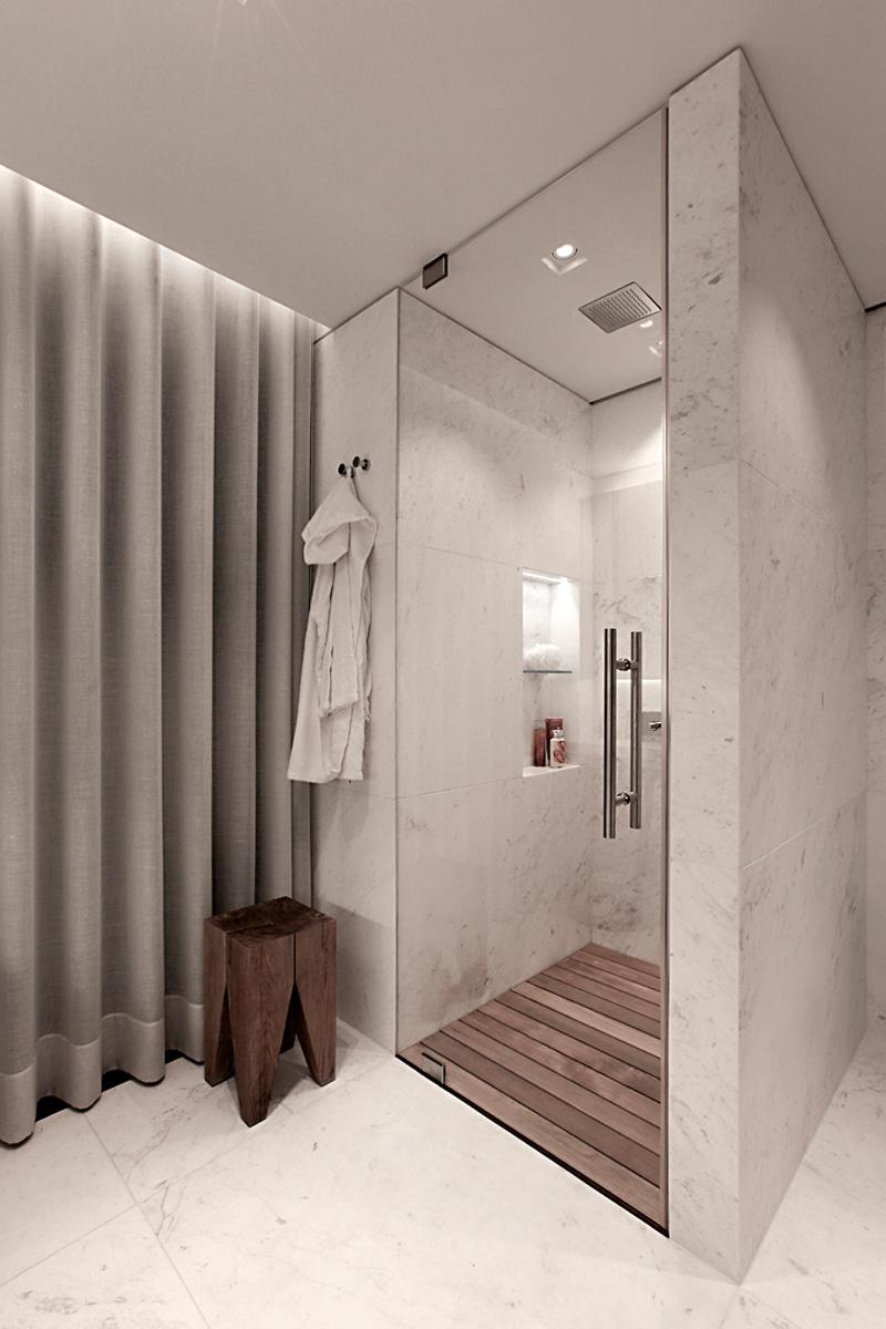 卫生间淋雨面积不大却干湿分离,清爽简约。