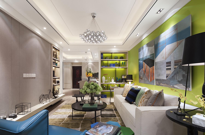 客厅,为了让光线更多的引入到室内,选择了绿色色调,轻便的身形、超高的颜值。