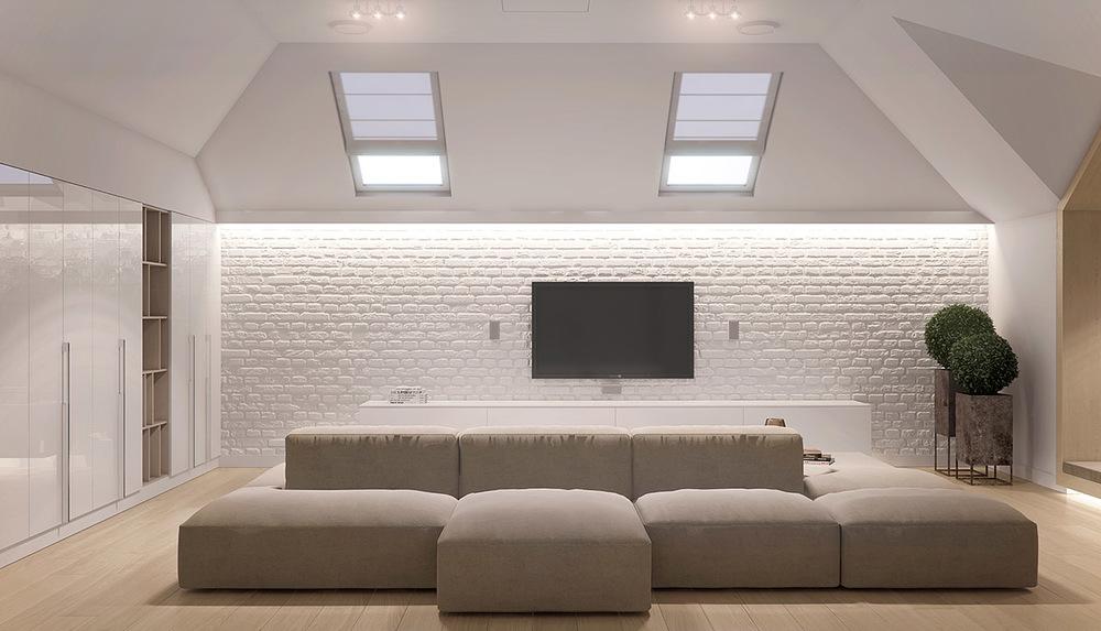 整个客厅以灰白色为主,显着整个房间高端大气,不是灵气