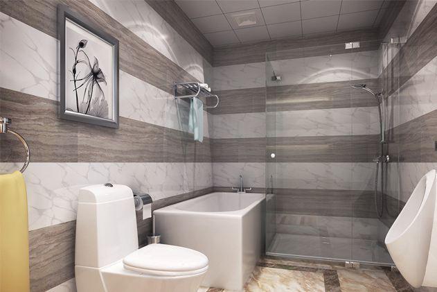洁白的卫生间设计,让卫生间看起来更加干净,干湿分区也能防止细菌滋生,一举两得。