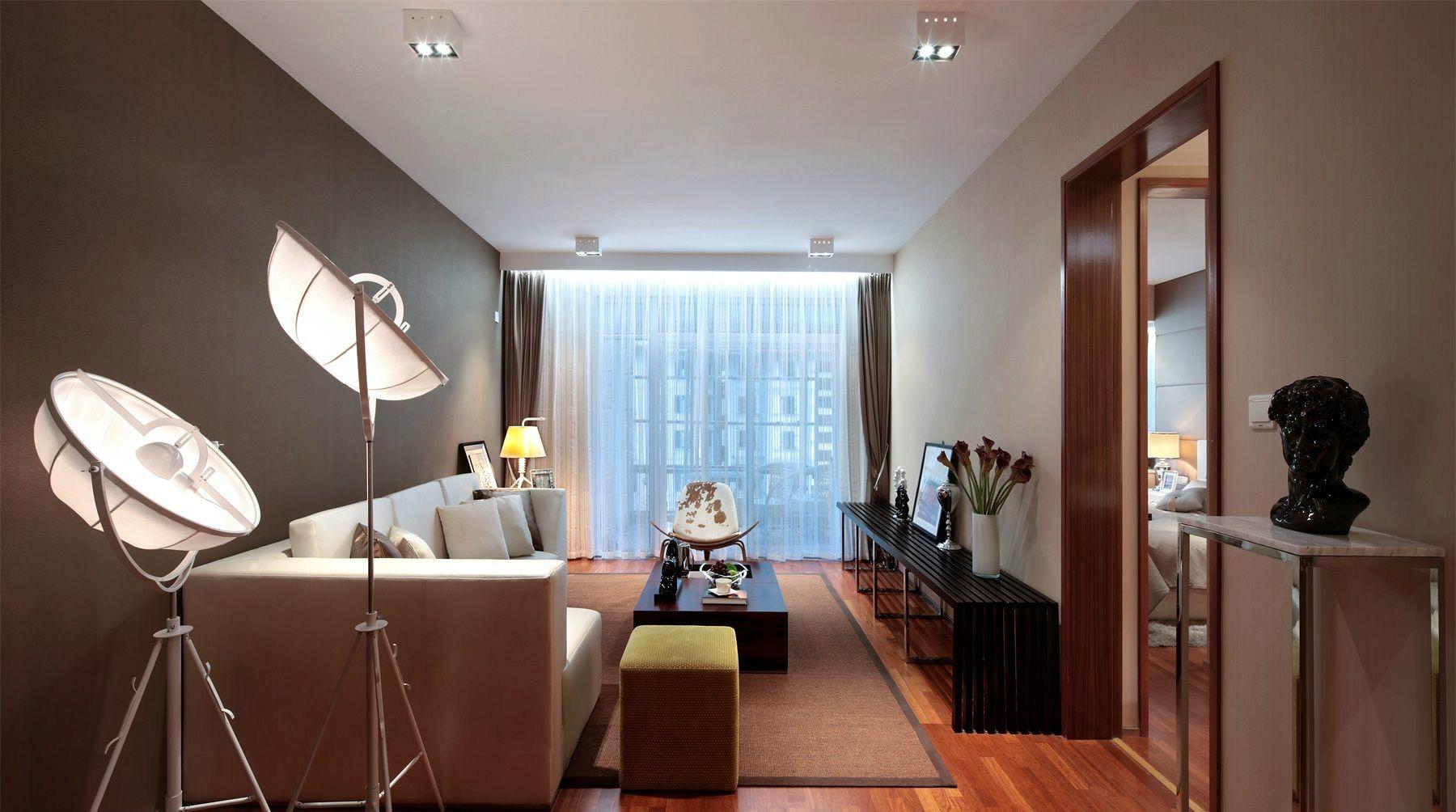 客厅是现代简约风中有着简约中的大气之感,整体的简约而不简单。