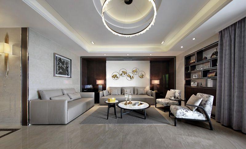 步入客厅,给人的感觉就是大气,没有繁复的设计和臃肿的摆设。