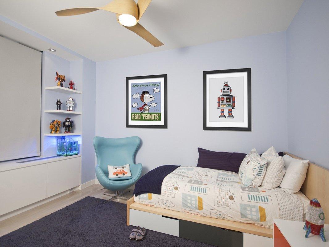 儿童房孩子的房间,颜色比较多样,有助于孩子想象。