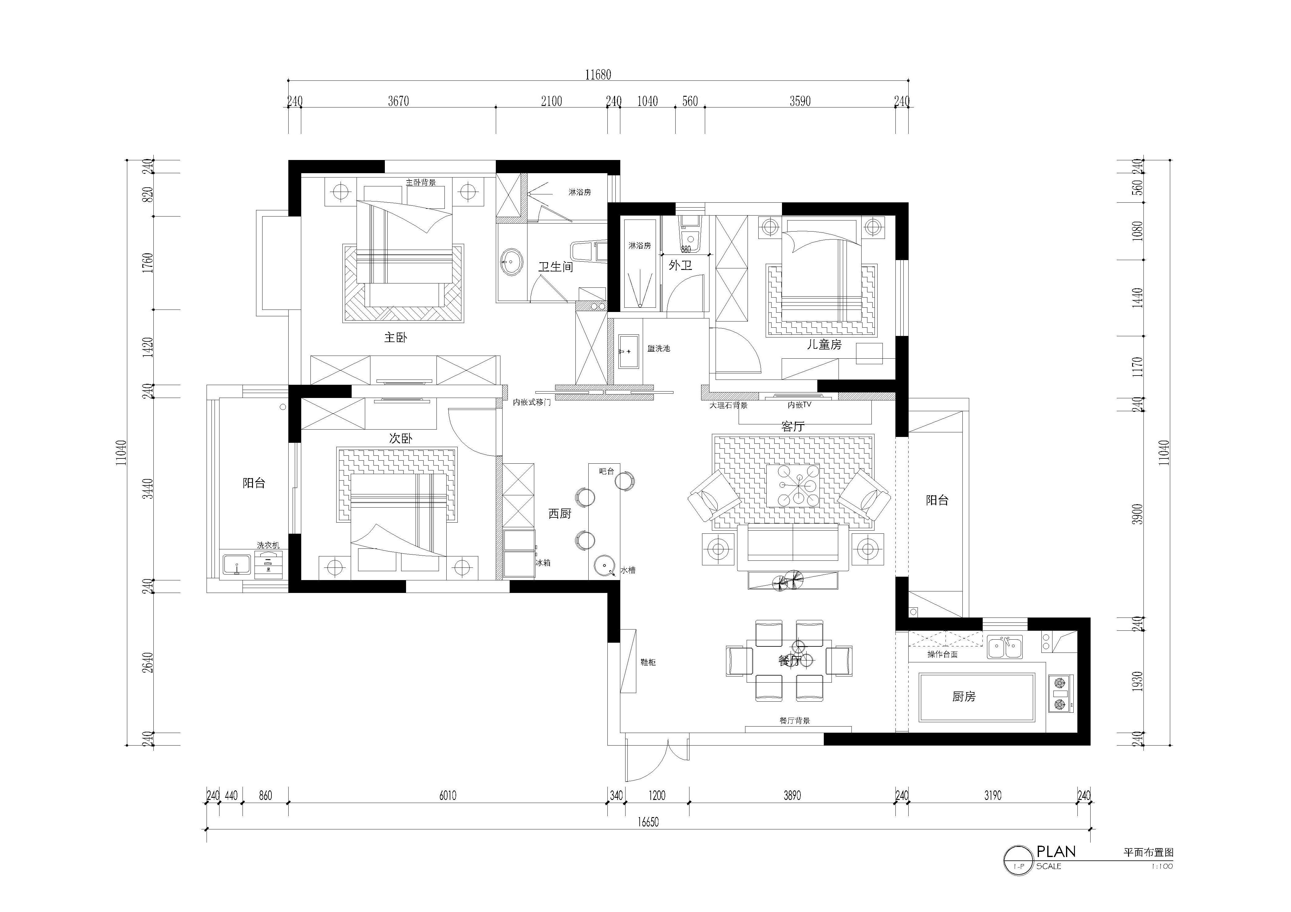 戶型格局端正,采光好,室内通透,空间功能布局完善,面積利用合理。
