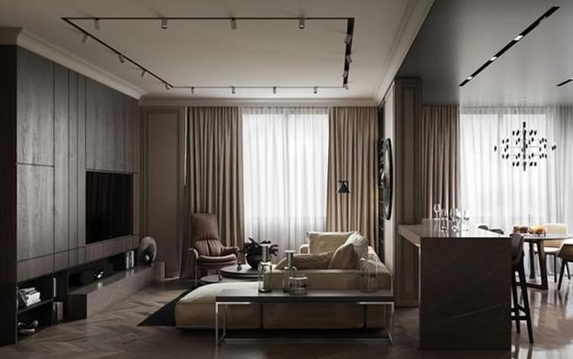 窗户整个是落地窗设计,用了一层纯白的纱帘和一层米色遮光帘,阳光进来很柔和。