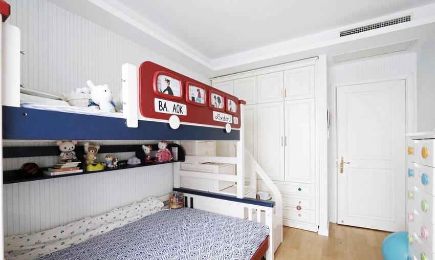 蓝色儿童房,清爽又充满童趣。
