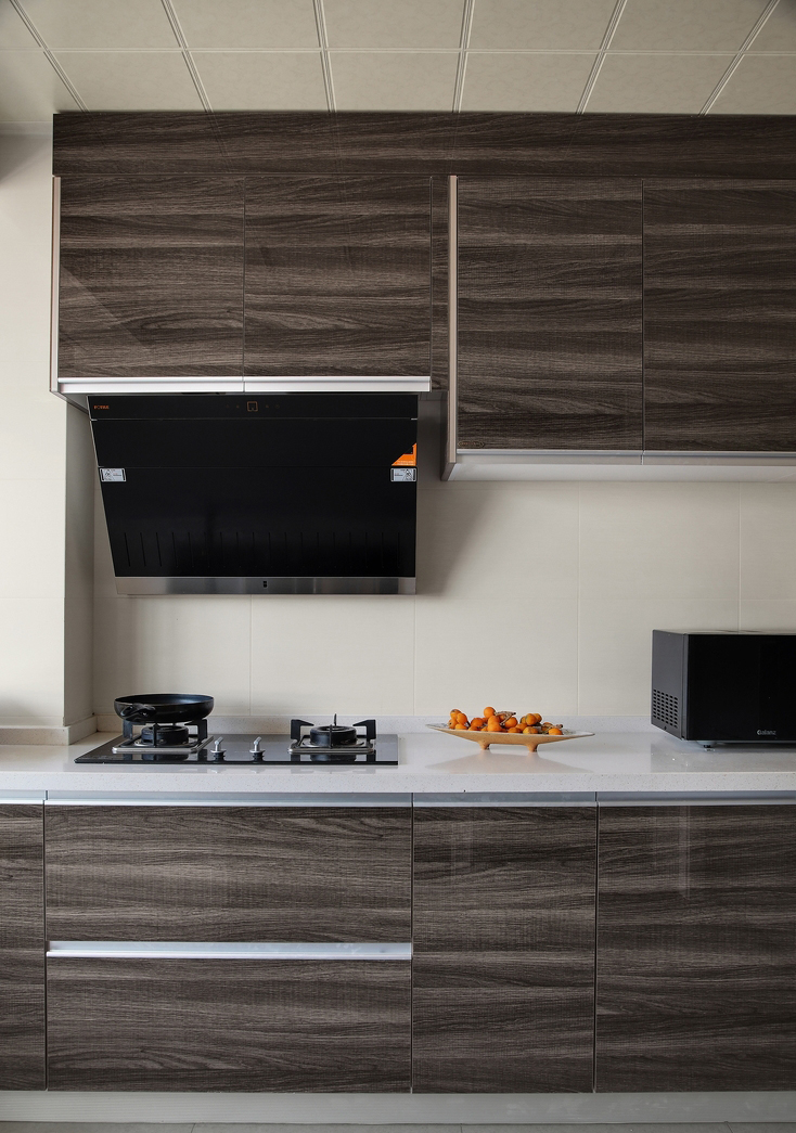 带点复古元素的厨房设计,将物品有规则的定位到最完美的境界。