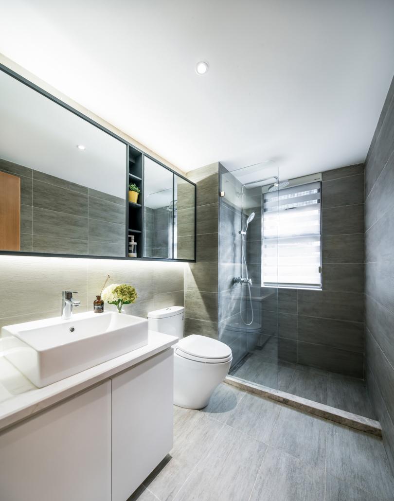 卫浴空间宽敞且干湿分离,清爽又干净