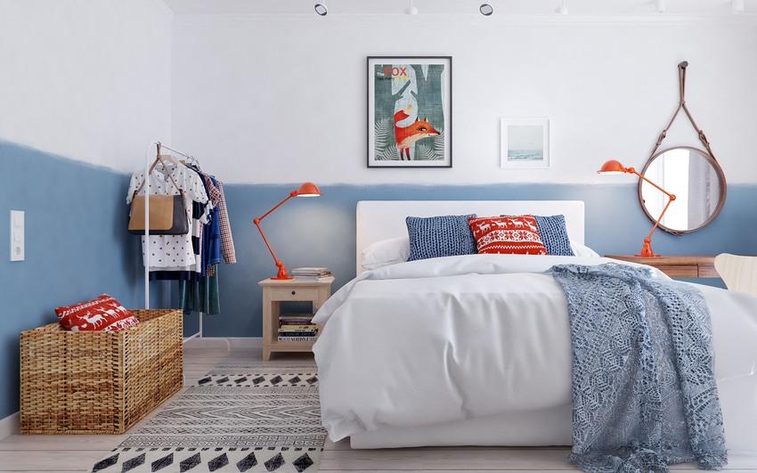 连衣柜都不需要,让出了空间,再次强调了实用主义:卧室只保留日常衣物即可。