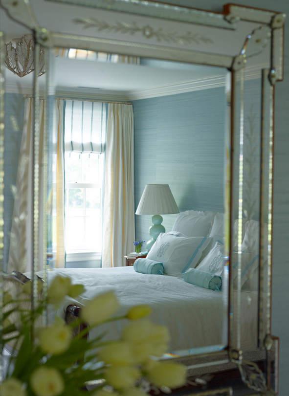 清新的卧室,让人有种沁人心脾的感觉。