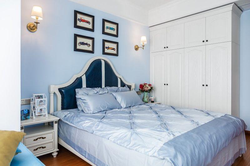 美式家装搭配上清新的颜色,蓝白相间的搭配简直梦幻。