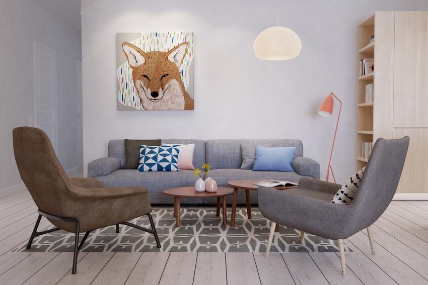 动物装饰画,缓解了墙面的单调感。