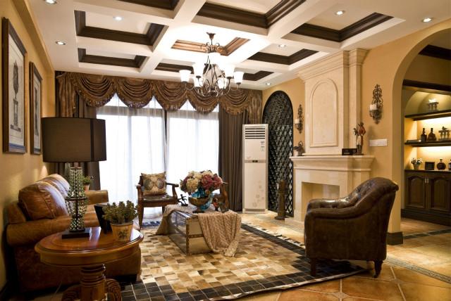 客厅摒弃了电视背景墙,采用个性装修,显得既有艺术又很前卫。