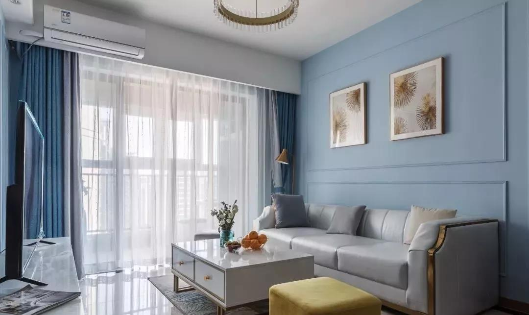 南昌夫妻巧用蓝色装出99㎡轻奢三室一厅,太美了!