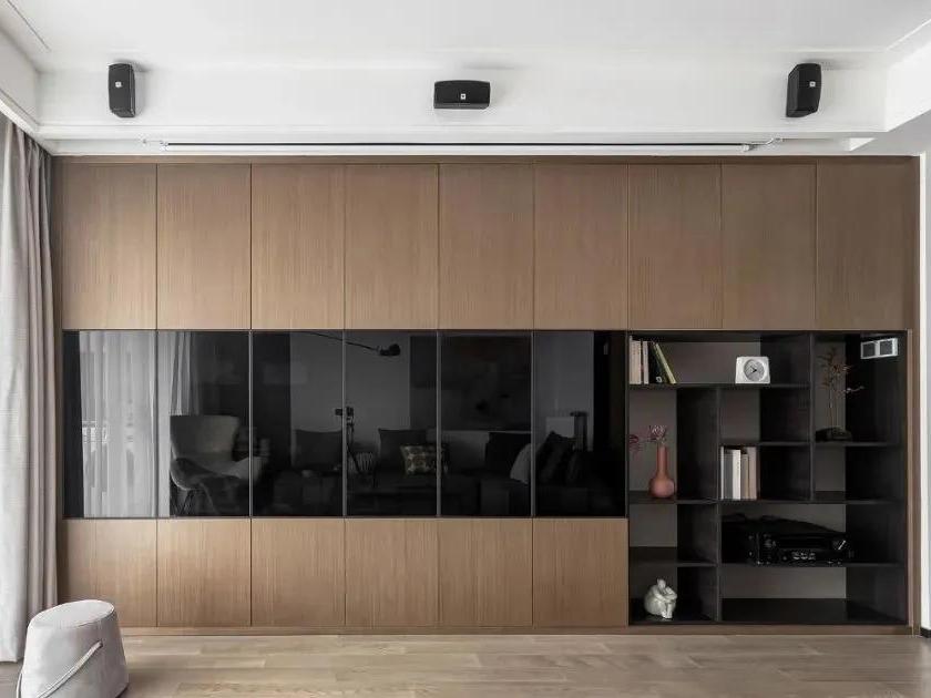 客厅去电视变墙柜+家庭影院,115㎡像住大别墅!