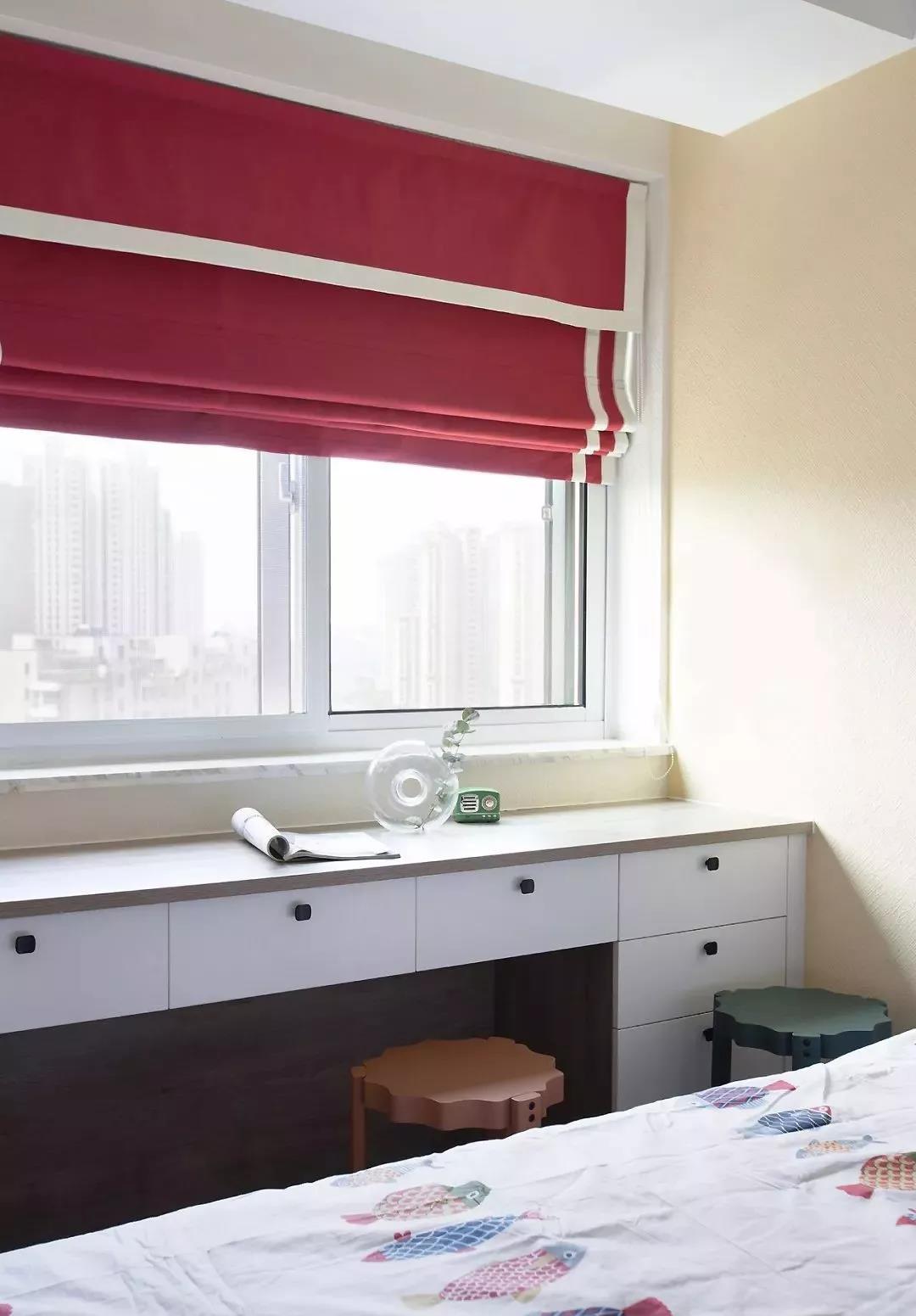 这套京都89㎡,给娃打造靠窗学习桌,超实用!