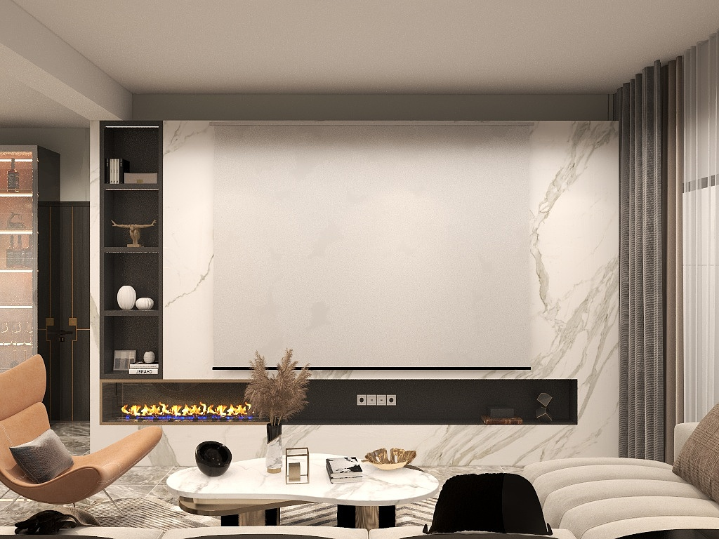 上海家裝電視墻從簡設計,別出心裁 !